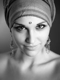 Nice girl in arabic style. Portrait shot Royalty Free Stock Photography