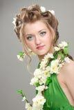 Nice girl in art image Stock Photography