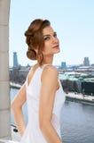 Nice girl on the balkony Stock Images