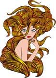 Nice girl with beauty hair Stock Image