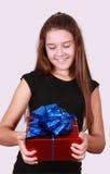 Nice girl in black dress Stock Images