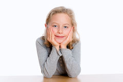 Nice girl with blond hair Stock Image