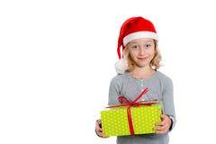 Nice girl with christmas- present Stock Images