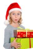 Nice girl with christmas- present Royalty Free Stock Image