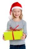 Nice girl with christmas- present Stock Image