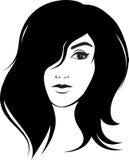Nice girl with cute haircut Stock Image