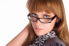 Nice girl in glasses Stock Images