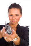 Nice girl with gun Royalty Free Stock Photos