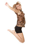The nice girl jumping Stock Photography