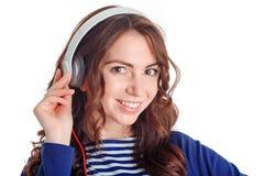 Nice girl listening to music Royalty Free Stock Image