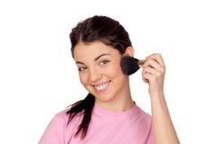 Nice girl make-up Stock Image