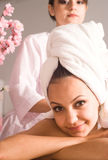 Nice girl at massage Royalty Free Stock Images
