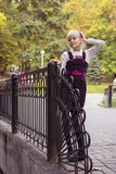 Nice girl outdoor at autumn Stock Image