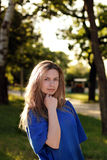 Nice Girl in Park Royalty Free Stock Photography