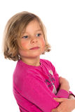 Nice girl in pink shirt Royalty Free Stock Photo