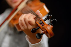 Nice girl playing the violin Royalty Free Stock Photography