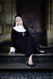 Nice girl posin like a nun Stock Photography