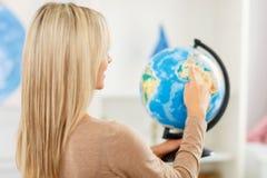 Nice girl preparing to travel Stock Image