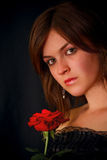 Nice girl with an rose Stock Photography