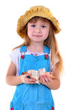 Nice girl with sea shell Royalty Free Stock Photography