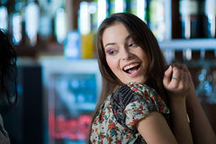 Nice girl with smile royalty free stock image
