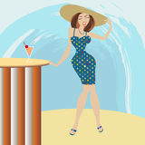 Nice girl in summer holiday Stock Photography