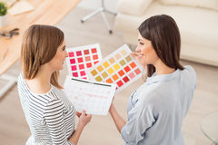 Nice girl talking to each other Stock Images