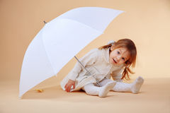Nice girl with umbrella Royalty Free Stock Image