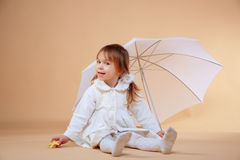 Nice girl with umbrella Royalty Free Stock Images