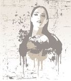 Nice girl, vector illustration. Abstract vector composition illustration with girl Royalty Free Stock Photos