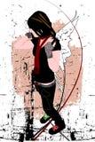 Nice girl, vector illustration Royalty Free Stock Photos