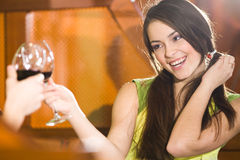 Nice girl with wineglass Royalty Free Stock Photography
