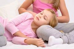 Nice girls sleeping Royalty Free Stock Photography