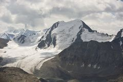 Nice glacier in mountains. Snow, mountains, glacier Royalty Free Stock Photography
