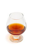 Nice glass of cognac Stock Photography