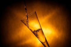 Nice glass with water splashes Royalty Free Stock Photo