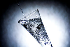 Nice glass with water splashes Stock Image