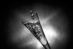 Nice glass with water splashes Stock Photos