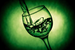 Nice glass with water splashes Stock Photo