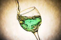 Nice glass with water splashes Royalty Free Stock Images