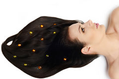 Nice  glossy hair Royalty Free Stock Images