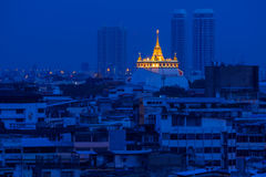 Nice gold mountain temple in Bangkok Thailand Stock Photo