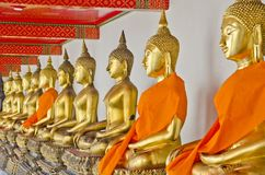 Nice Golden Buddha Statue Stock Photography