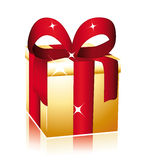 Nice golden gift Royalty Free Stock Image