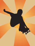 Nice Grab. Skater silhouette grabbing big getting some air Stock Photography