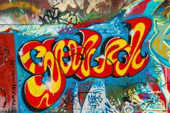 Nice graffity. This is a nice graffity as a background stock photo