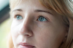Nice green eyes of a girl Royalty Free Stock Photography