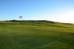 The nice green golf course . Royalty Free Stock Photo
