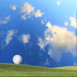 Nice green grass golf ball Stock Photos
