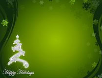 Nice green happy holidays background Stock Photo